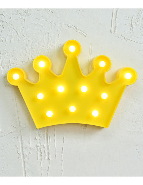 Yellow Crown Decorated Lighting