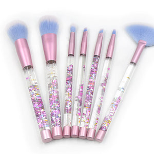 Transparent Fancy Makeup Brushes Set
