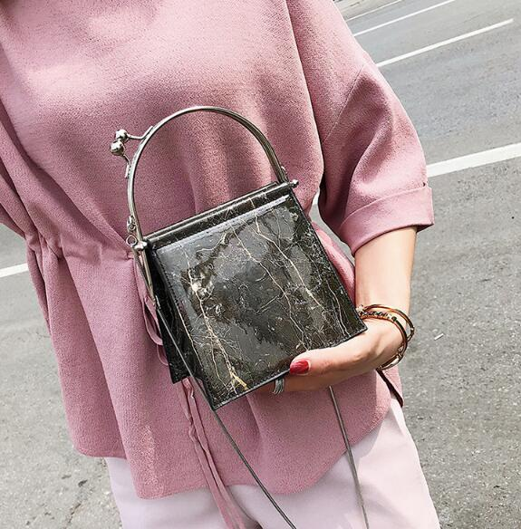 Black Marble Small Women Handbags
