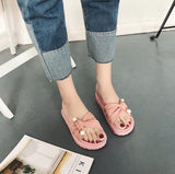 Pink Pearl Flat Shoes