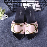 Pink C Flat Shoes
