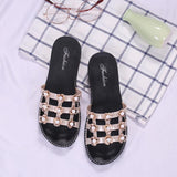 White Net Flowers Flat Shoes