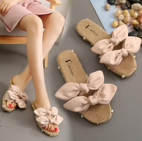 Beige Double Fyonka Flat Shoes