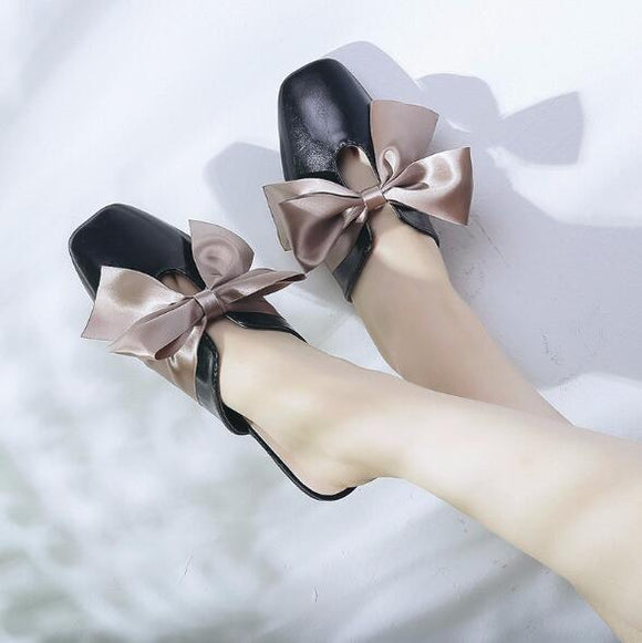 Black Fyonka Flat Shoes