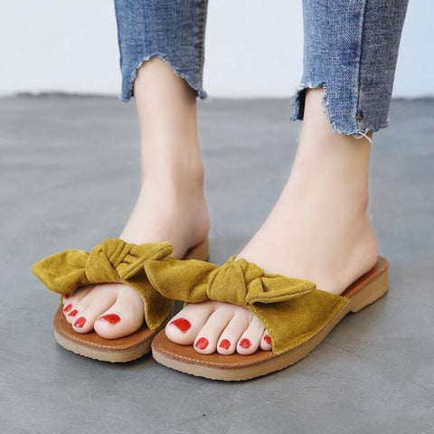 Yellow Fyonka Flat Shoes