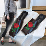 Red Rose Flat Shoes