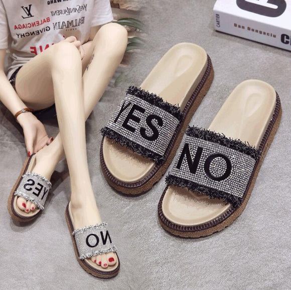 Yes No Flat Shoes