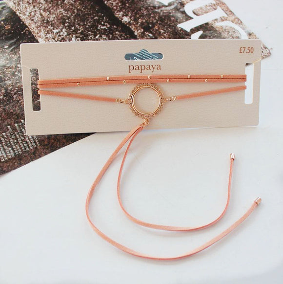 Orange Ring Choker Necklace