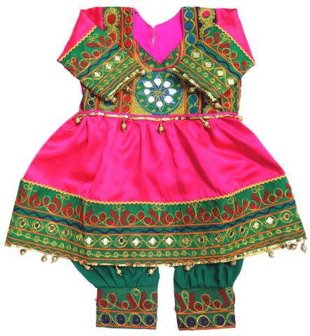 Baby Girl Pink Afghani Dress | muslim-baby.com