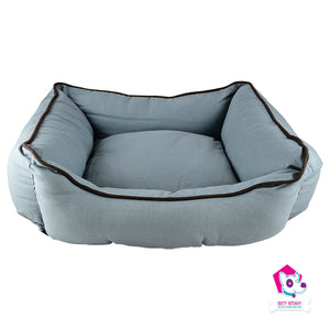 "Cozy Bed - Lounger Bed Brown/Blue  37""x31""x10"""