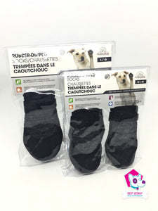 Rubber-Dipped Socks - Black