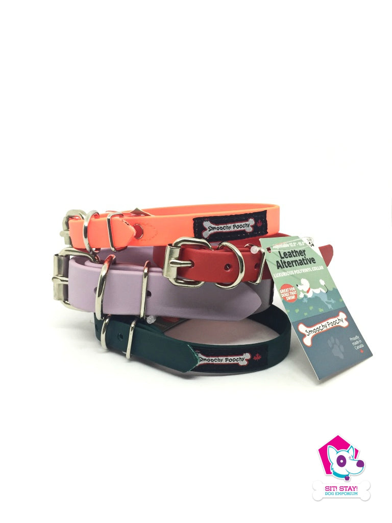 Smoochy Poochy Leather Alternative Luxurious Polyvinyl Collar - Size 12 - 16