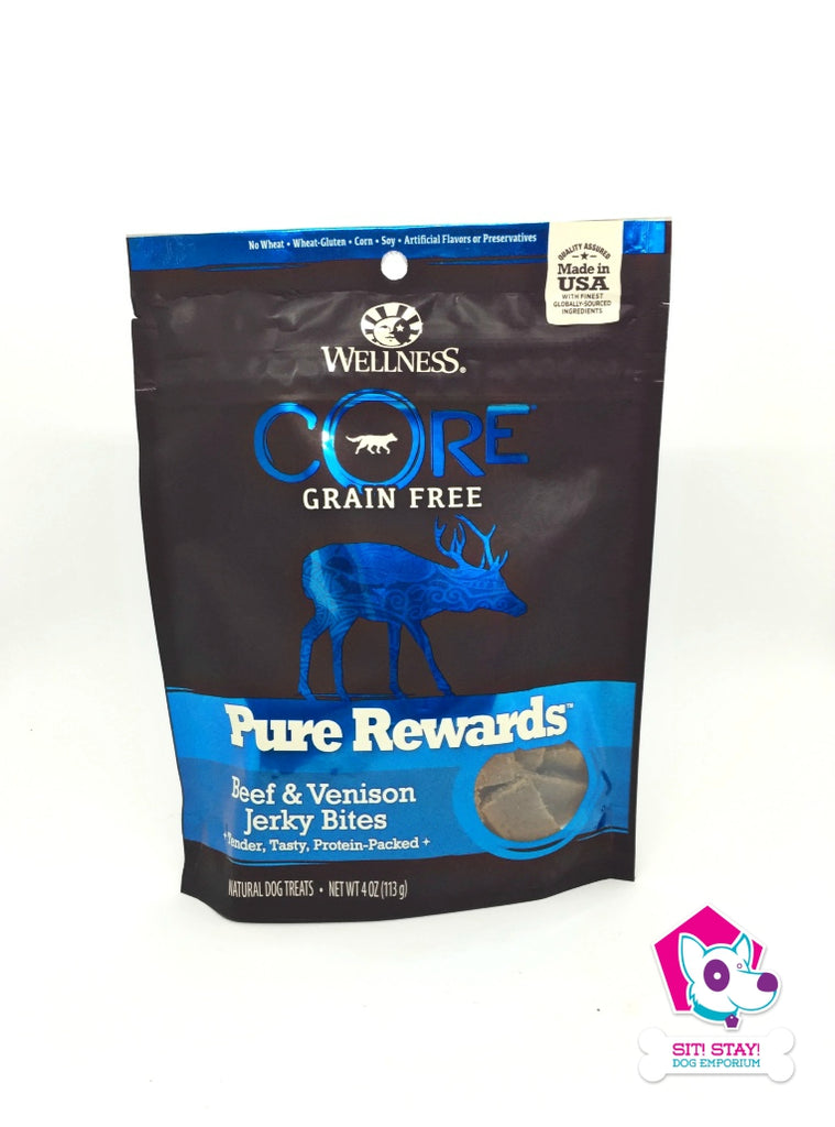Wellness Grain Free Pure Rewards Beef and Venison Jerky - OUT OF STOCK