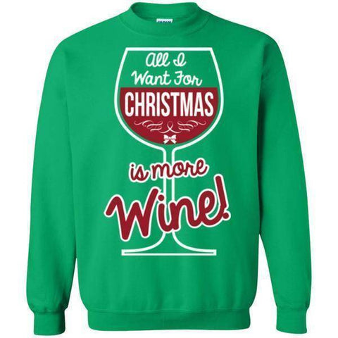 More Wine For Christmas-Sweatshirts-Drunken Palm Island Outfitters