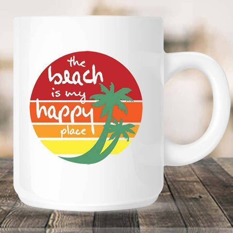 My Happy Place Mug-Drinkware-Drunken Palm Island Outfitters