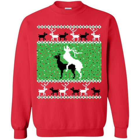 Oh Deer Christmas Sweater-Sweatshirts-Drunken Palm Island Outfitters