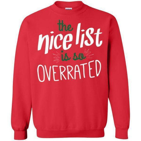 The Nice List Is Overrated-Sweatshirts-Drunken Palm Island Outfitters
