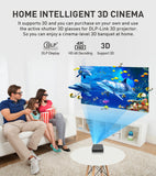 Vivicine P11 Android 9.0 Support 4K Mini Projector,3D HD Portable Micro WIFI Bluetooth DLP Mobile LED Projector with Battery