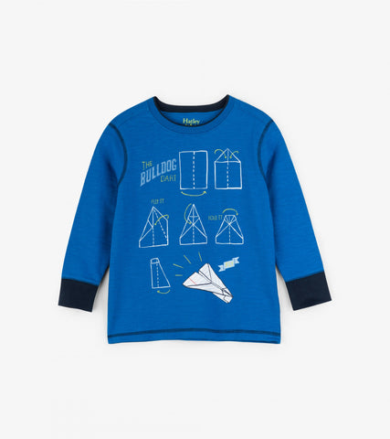 Hatley boy's airplane top