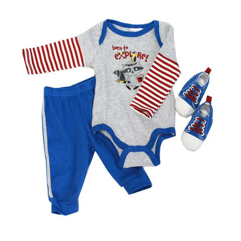 Baby Mode 3 piece sneaker set - Explorer