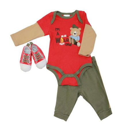 Baby Mode 3 piece sneaker set - Wild One