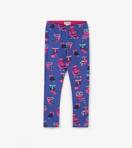 Hatley girl's owl legging