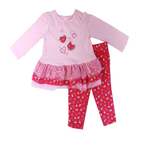 Baby Mode girl's 2 piece set - Heart