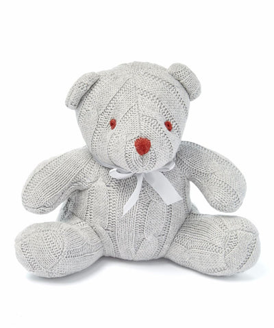 Baby Mode cable knit bear