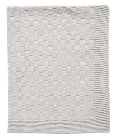 Tots Fifth grey basket weave blanket