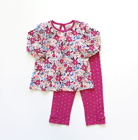 Globaltex Kids Minibamba girl's 2 piece set 3-9 month