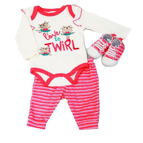 Baby Mode 3 piece sneaker set - Love to Twirl
