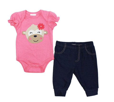 Baby Mode infant girl's 2 piece pant set
