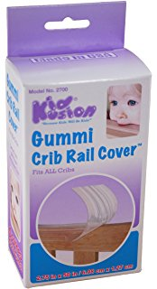 Kid Kushion extra wide gummi crib rail  cover