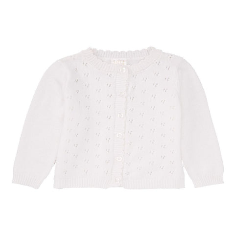 Baby Mode white pointelle sweater