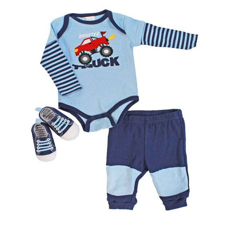 Baby Mode 3 piece sneaker set - Trucker