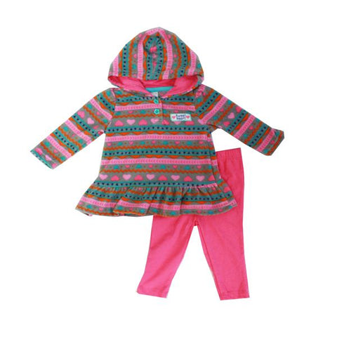 Baby Mode girl's 2 piece micro-polar set