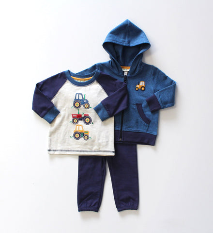 Globaltex Kids Minibambi boy's 3 piece set 12-24 month