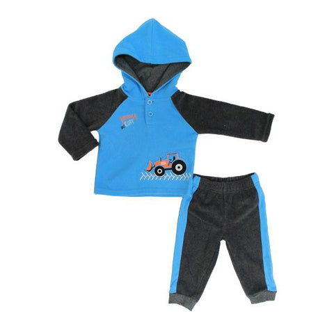 Baby Mode boy's 2 piece micro-polar set