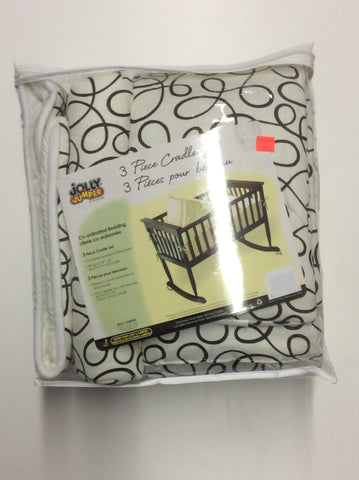 Jolly Jumper 3 piece cradle set - Black swirl