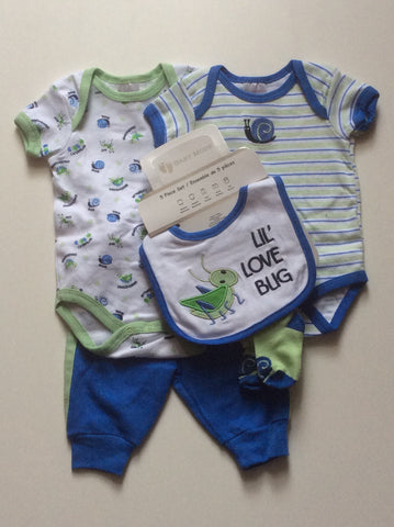 Baby Mode infant boy's 5 piece set