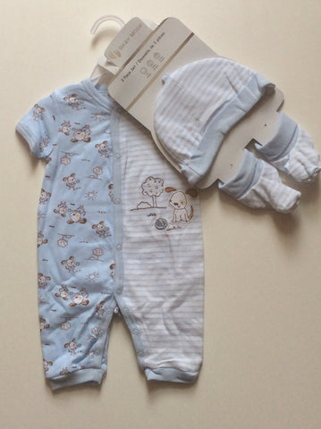 Baby Mode infant boy's 3 piece romper set