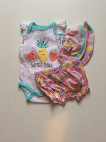 Baby Mode infant 3 piece short set