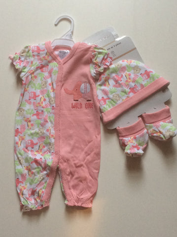 Baby Mode infant girl's romper set