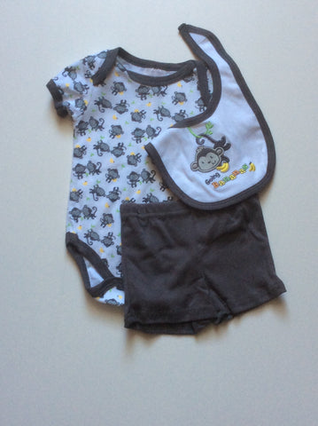 Baby Mode infant boy's 3 piece short set