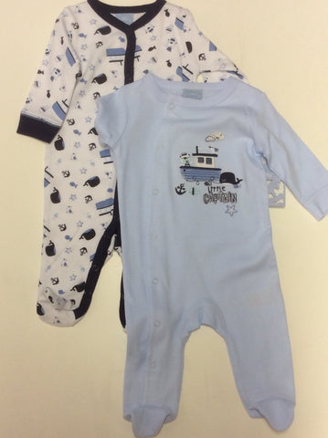 Rock a Bye Baby 2-pack infant boy's sleepers