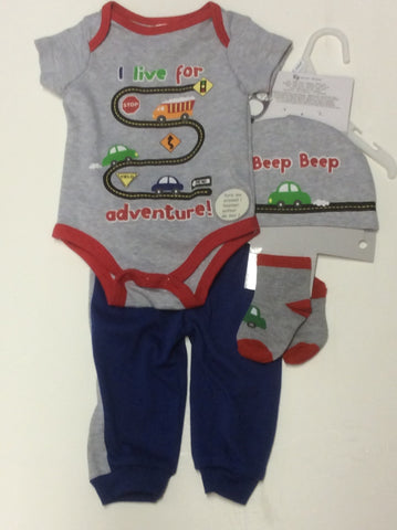 Baby Mode infant boy's pant set