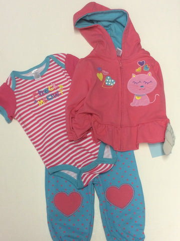 Baby Mode infant girl's 3 pant piece set