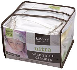 Kushies Ultra toddler diapers - 5 pack