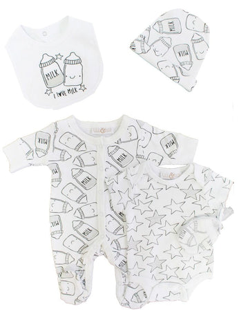 "Lily & Jack infant 5 piece set ""I Love Milk"""