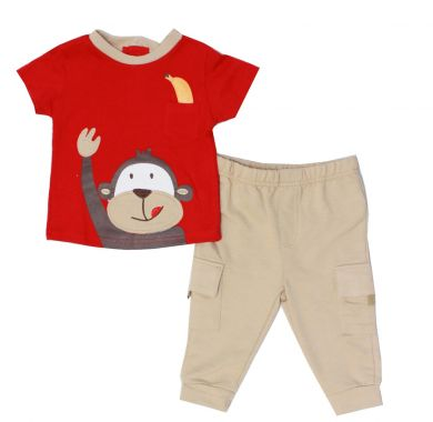 Baby Mode infant boy's 2 piece pant set